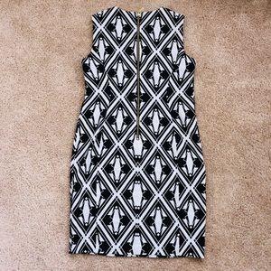 Calvin Klein black/white dress Size 14